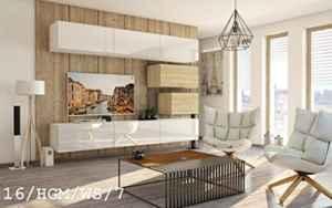Wohnwand FUTURE 16 Anbauwand Schrankwand Moderne Wohnwand Exklusive Mediamöbel  | Wohnwand Hängend Modern  | Wohnwand