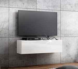 TV Lowboard Hängeboard Board Schrank mit Hochglanz  | TV Lowboard Hängend Weiß  | Lowboard