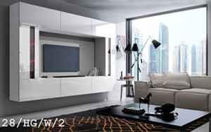FUTURE 28 Moderne Wohnwand, Exklusive Mediamöbel, TV-Schrank, Schrankwand, TV-Element Anbauwand  | Wohnwand Hängend Montierbar  | Wohnwand