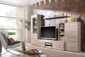 Wohnwand Wohnzimmerschrank Schrankwand TV-Element Anbauwand CANNES  | Hängende Wohnzimmermöbel  | Wohnwand