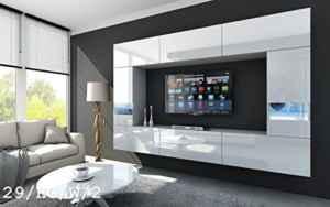 FUTURE 29 Moderne Wohnwand, Exklusive Mediamöbel, TV-Schrank, Schrankwand, TV-Element Anbauwand  | Wohnwand Modern Hängend  | Wohnwand