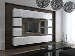 FUTURE 17 Moderne Wohnwand, Exklusive Mediamöbel, TV-Schrank  | Hängende Wohnwand  | Wohnwand